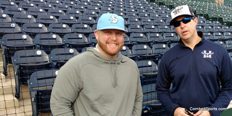 ABCA College Division liaison, Jeremy Sheetinger, and HCC coach, Nate Metzger